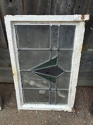 Antique Old English Leaded  Stained Glass Window #21