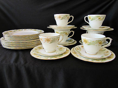 "Vintage Duchess Tea Set Plate Bone Chine Made in England 348 ""Greensleeves"" Of"