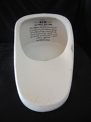 Vintage Bed Pan 'The New Slipper Bed Pan' Best English Ironstone Made in England
