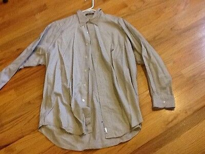 Men's Chaps shirt size L brown long sleeve with collar