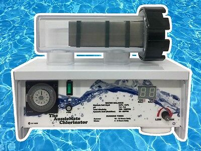 NEW Aussiemate STD25 Salt Water Pool Chlorinator With Cell Australian Made