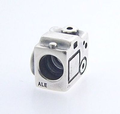 New Genuine Pandora Sterling Silver Camera Photo Travel Charm 790961 -Retired