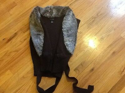 Women's New Directions sweater vest size L brown sleeveless