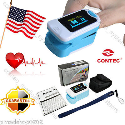 Hot sale 2017 Finger Pulse O2 Monitor OLED Fingertip Oximeter SpO2 PR With Case