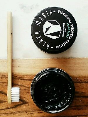 100% Natural activated CHARCOAL TOOTHPASTE vegan detox WHITENING remineralise