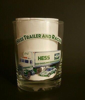 HESS Trailer and Racer Whiskey Glass Tumbler *NEW* ~FREE SHIPPING~ COLLECTIBLE