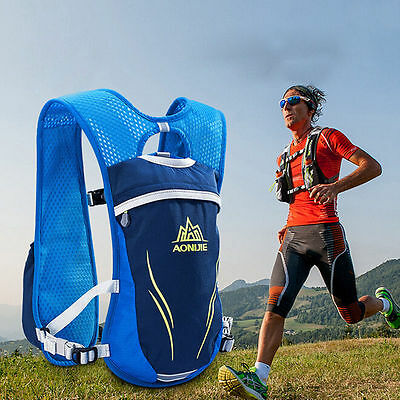 Running Cycling Vest Backpack Sports Camping Hydration Water Bladder Bag