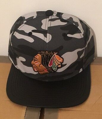 Mitchell & Ness Blackhawks NHL Snapback Cap Hat Camo Adjustable Fit New