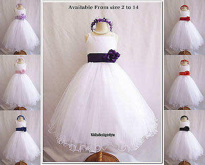 New Flower Girl Dress Party Bridesmaid Pageant size 0-1-2-4-6-8-10-12-14