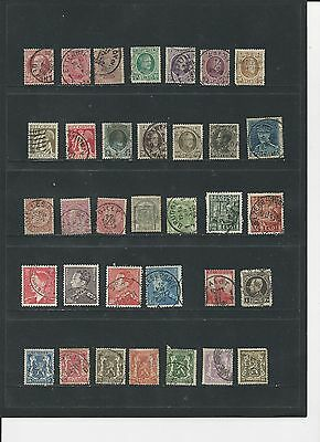 BELGIUM - SMALL COLLECTION OF OLD USED STAMPS - #BEL2abc  3 SCANS