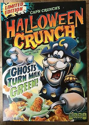 Box Of CAP'N CRUNCH'S HALLOWEEN CRUNCH Cereal, 13 Oz, Limited Edition!