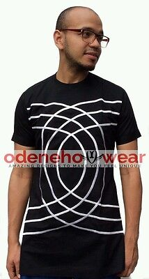 Odeneho Wear Men's Black Polished Cotton Top/Embroidery Design.African Clothing