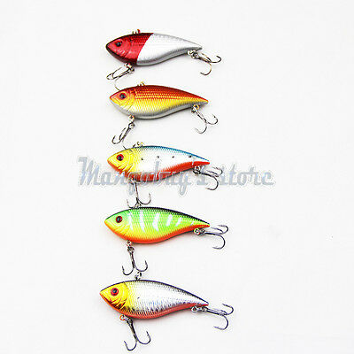 5 pcs Minnow Fishing Lures Fishing Lures Bait Bass Floating Lure Fishing Tackle