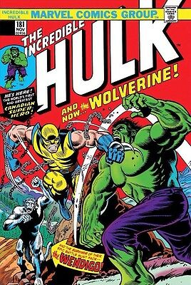 True Believers Incredible Hulk VS Wolverine #1 Hulk #181 REPRINT