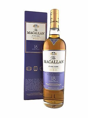 The Macallan Fine Oak 18 year old Single Malt Scotch Whisky. 700mL, 43%alc
