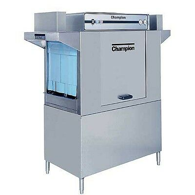 Champion 44 DR Dual Rinse Rack Conveyor Dishwasher High Temp 208 Racks/hr