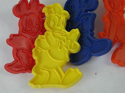 4 Disney biscuit designs, Donald Duck & Mickey Mouse, free postage