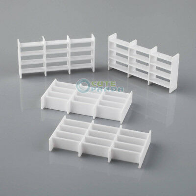 10 x Plastic 1:50 Scale Dollhouse Model Straight Shelves with 9 Grids White