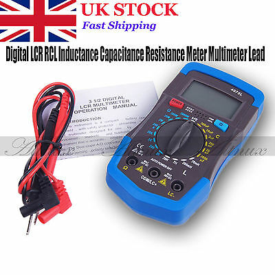 Portable LCD Digital LCR RCL Inductance Capacitance Resistance Meter Multimeters