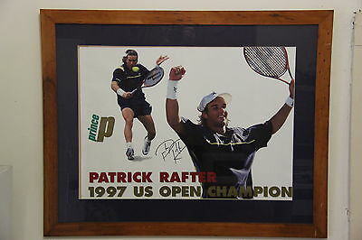 US Open Champion1997 Patrick Rafter Poster Autographed by Patrick Rafter Framed