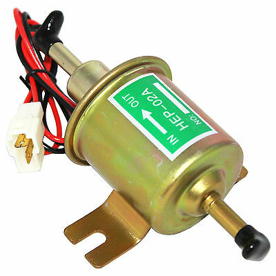Universal New 12V Electric Gas Diesel Fuel Pump Inline Low Pressure HEP02A