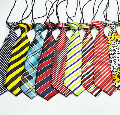 Pre-tied Elastic Neck Adjustable Tie Baby Toddler Kids Boys Girls Child 30Type