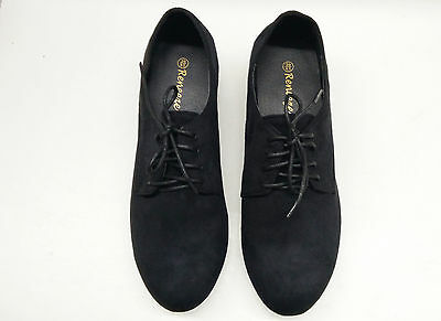 Women's Oxford Flat Loafer Shoes, Colors Black , Size 6 Dream-01