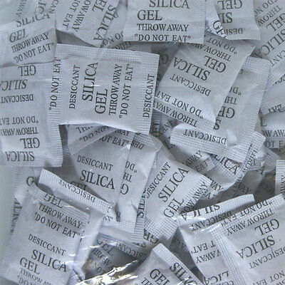 100 Packets 3 g Grams Silica Gel Desiccant Pack Moisture Absorber Ship from USA