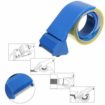 50mm 2'' Adhesive Tape Dispenser Pack Packaging Boxes Roller Cutter Parcel Tool