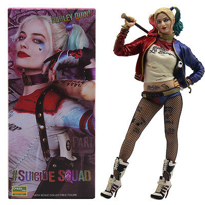 "13"" Suicide Squad Harley Quinn&Joker Action Figure Crazy Colletible Statue"