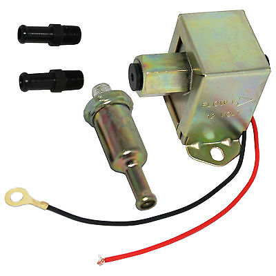 Universal New 12V Electric Fuel Pump Solid State Kit With Fittings 4-6PSI 130LPH