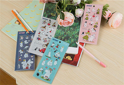 Moomin Valley Characters Moomin & Little My Stickers 4 Pces