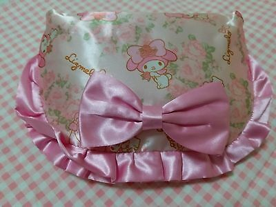 Japan Brand My Melody X Liz Lisa Pink Floral Satin Zipper Cosmetic Case