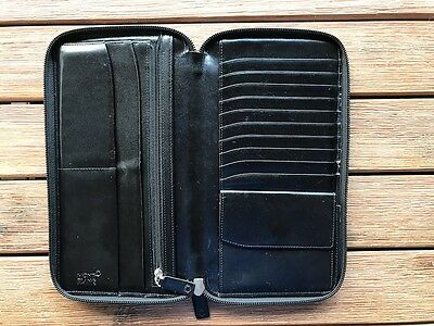 Montblanc Meisterstuck Leather Travel Wallet - genuine/authentic