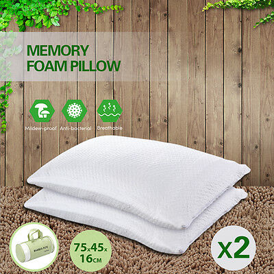 2X Premium Visco Shredded Bamboo Memory Foam Pillow/free bags Bed Pillow Cushion