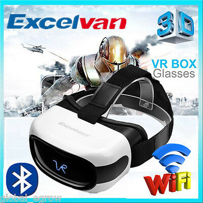 3D Virtual Reality VR Box Glasses Headset Helmet Android 8GB Video Movie Player
