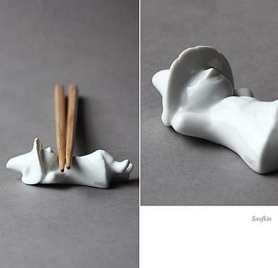 Moomin Characters SNUFKIN White Ceramic Chopstick Holder 1 pc b1