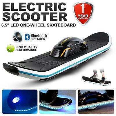 "One Wheel 6.5"" LED Bluetooth Outdoor Smart Skateboard Electric Glider Scooter"