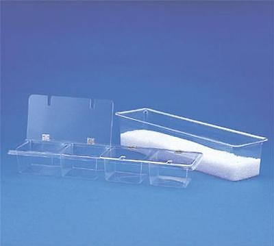 Spill-Stop 151-04 Bar Condiment Caddy Four Compartment Clear Acrylic