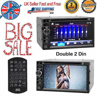 Double 2 Din Touch Screen Car DVD Radio Stereo Bluetooth FM/USB/TV/AUX Player