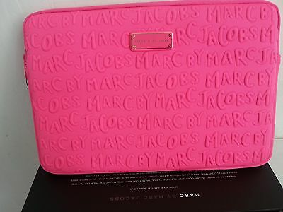 "100% Authentic 13"" Marc by Marc Jacobs Pink  Neoprene Macbook Case"