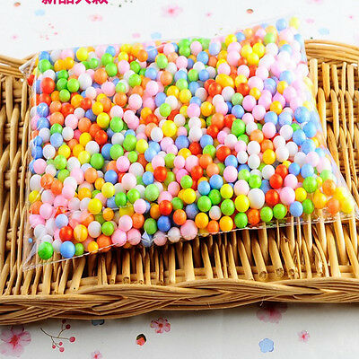 Lots Assorted Colors Crafts Polystyrene Styrofoam Filler Foam Mini Beads Balls X