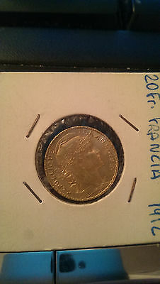 Francia 1912 moneda oro gold coin 20 francos Gallo