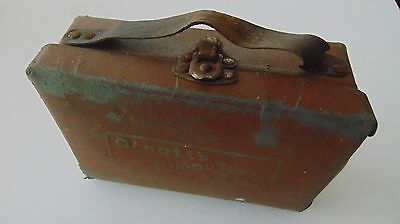 Vintage Collectable Arnott's Famous Biscuits Leather School Case