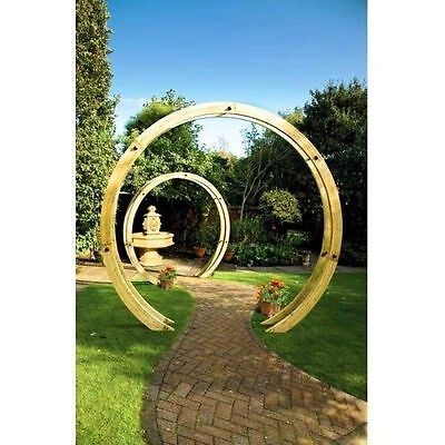 GARDEN STRUCTURE TIMBER WOODEN PERGOLA / ARCH The Flower Circle By Grange
