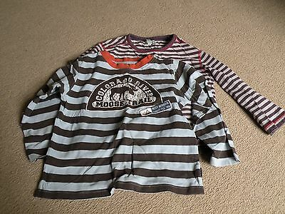 2 x Boys Long Sleeved T-shirts Age 4