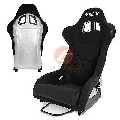 New 2x JDM 100% Fabric Silver Color Lightweight Racing Sport Bucket Seat (Pair)