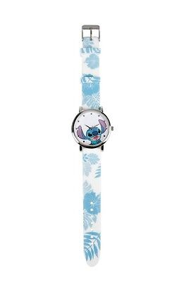 Disney Lilo And Stitch Floral Rubber Band Strap Watch Gift New In Collectors Tin
