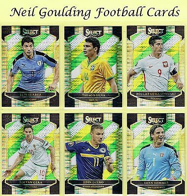Panini SELECT SOCCER 2016-2017 MULTI-COLOR PARALLEL 'Terrace' Cards #1 to #100
