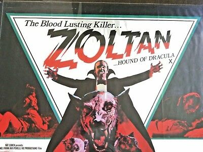 Zoltan Hound of Dracula Original Film Movie Poster Theatrical Release Premiere